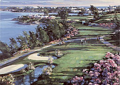 18th Fairway (Canvas) by Howard Behrens