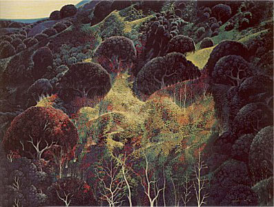 Autumn Fields by Eyvind Earle