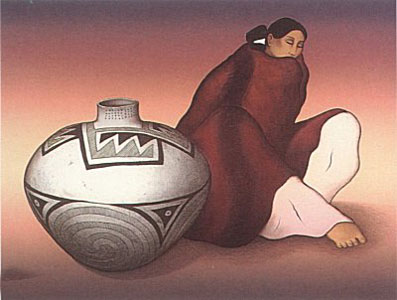 Anasazi Jar by R.C. Gorman