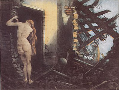 After the Raid by Louis Icart