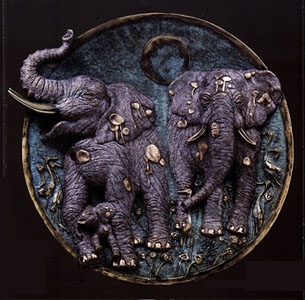 Antiquities Collection (Platter) (Elephant) by Jiang