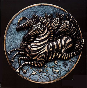 Antiquities Collection (Platter) (Zebra) by Jiang