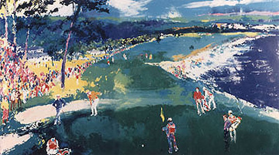 18th At Pebble by LeRoy Neiman