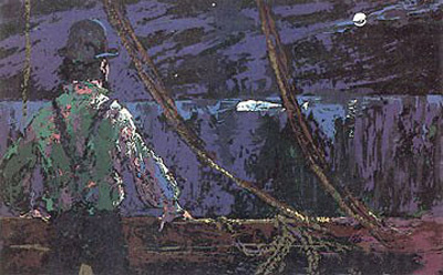 Ahab at the Night Watch by LeRoy Neiman