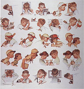 A Day in the Life of a Boy (Deluxe) by Norman Rockwell
