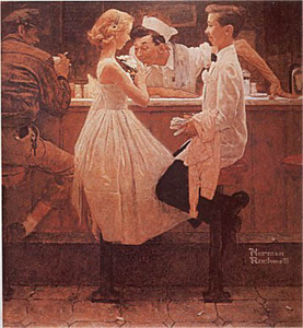 After the Prom (Deluxe) by Norman Rockwell