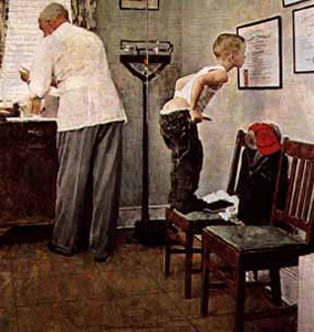A Study for the Doctor's Office by Norman Rockwell