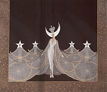 Queen of the Night by Erte
