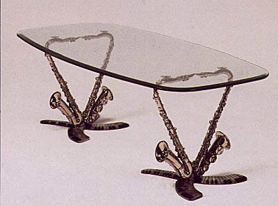 Double Sax (Table) by Paul Wegner